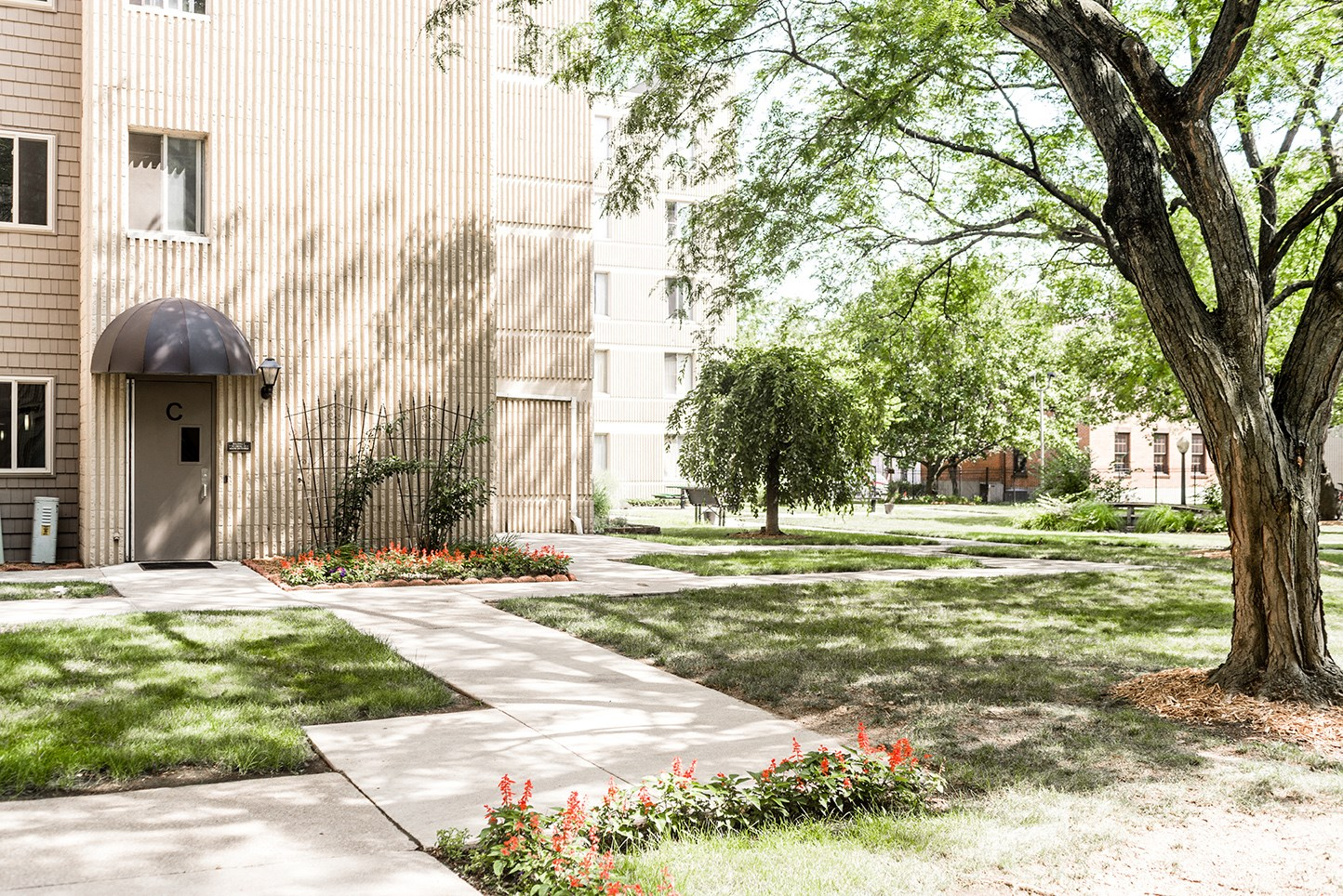 Community Courtyard at Edsall House
