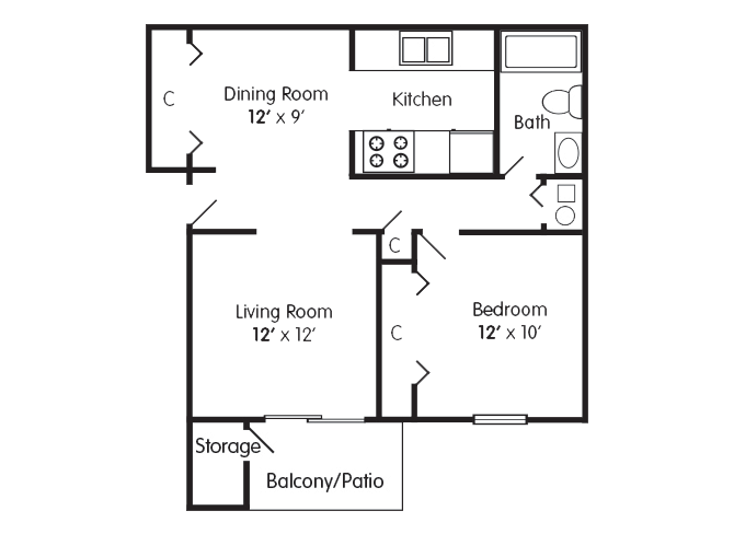 Floor Plans of Thompson Village Apartments in Indianapolis, IN