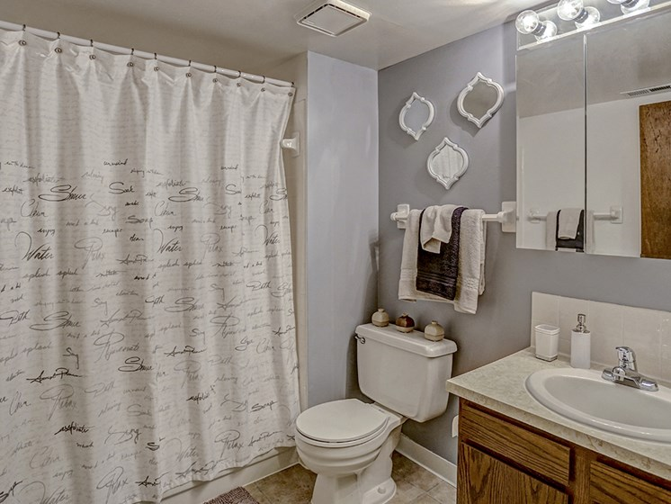Mishawaka apartments with a full size bathroom
