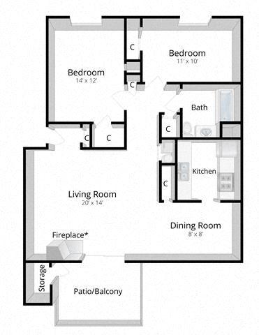 Two Bedroom Apartment Mishawaka