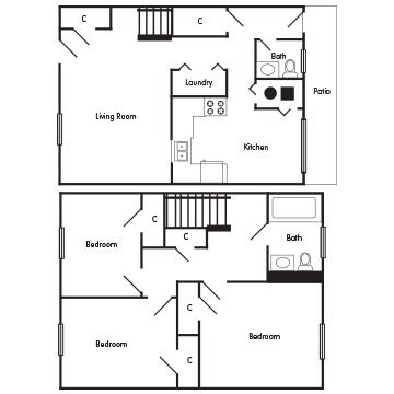 3 Bedroom Townhome: The Oxford Floor Plan 4