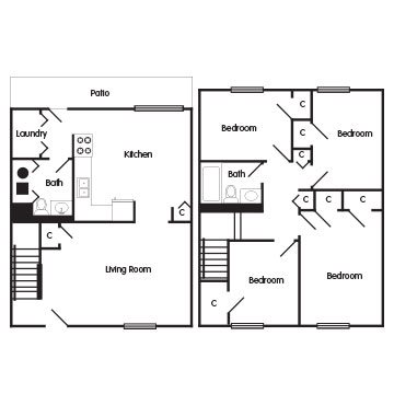 4 Bedroom Townhome: The Darcy Floor Plan 5