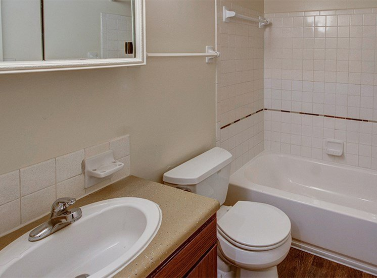 Bathroom at Woodlake Apartments