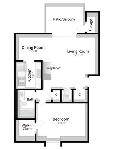 View Floor Plans | 1, 2 and 3 Bedroom Apartments in Indianapolis, IN