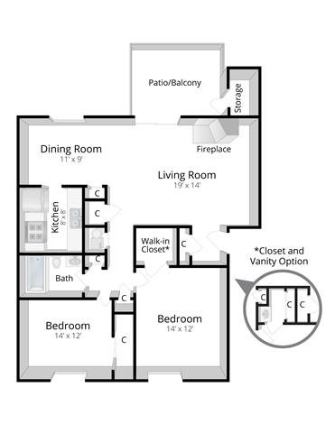Two Bedroom Apartment in Indianapolis