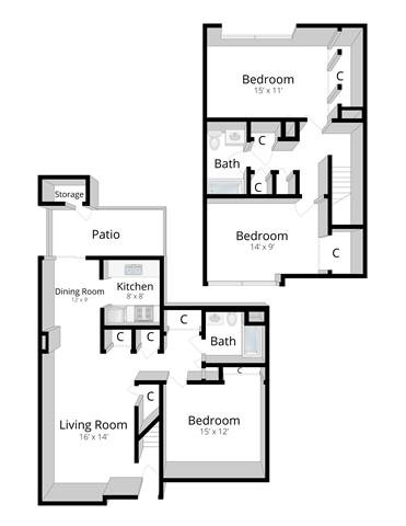 Three Bedroom Townhome in Indianapolis