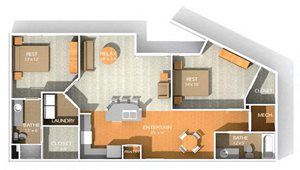 G floor plan at Kenyon Square Apartments in Westerville, Columbus, OH
