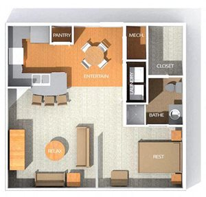 H2R floor plan at Kenyon Square Apartments in Westerville, Columbus, OH