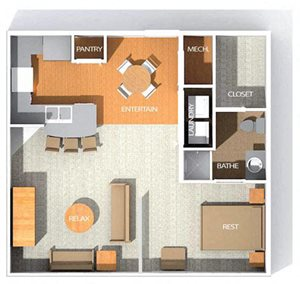 H2 floor plan at Kenyon Square Apartments in Westerville, Columbus, OH