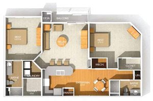 H3R floor plan at Kenyon Square Apartments in Westerville, Columbus, OH
