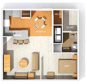 H8 floor plan at Kenyon Square Apartments in Westerville, Columbus, OH