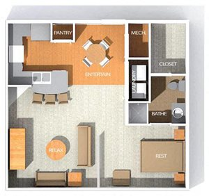 H floor plan at Kenyon Square Apartments in Westerville, Columbus, OH