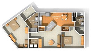 s11 floor plan at Kenyon Square Apartments in Westerville, Columbus, OH