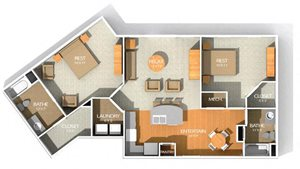 S1 floor plan at Kenyon Square Apartments in Westerville, Columbus, OH