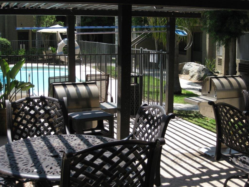 Outdoor Relaxing Area at Scripps Poway Villas, Poway, CA, 92064