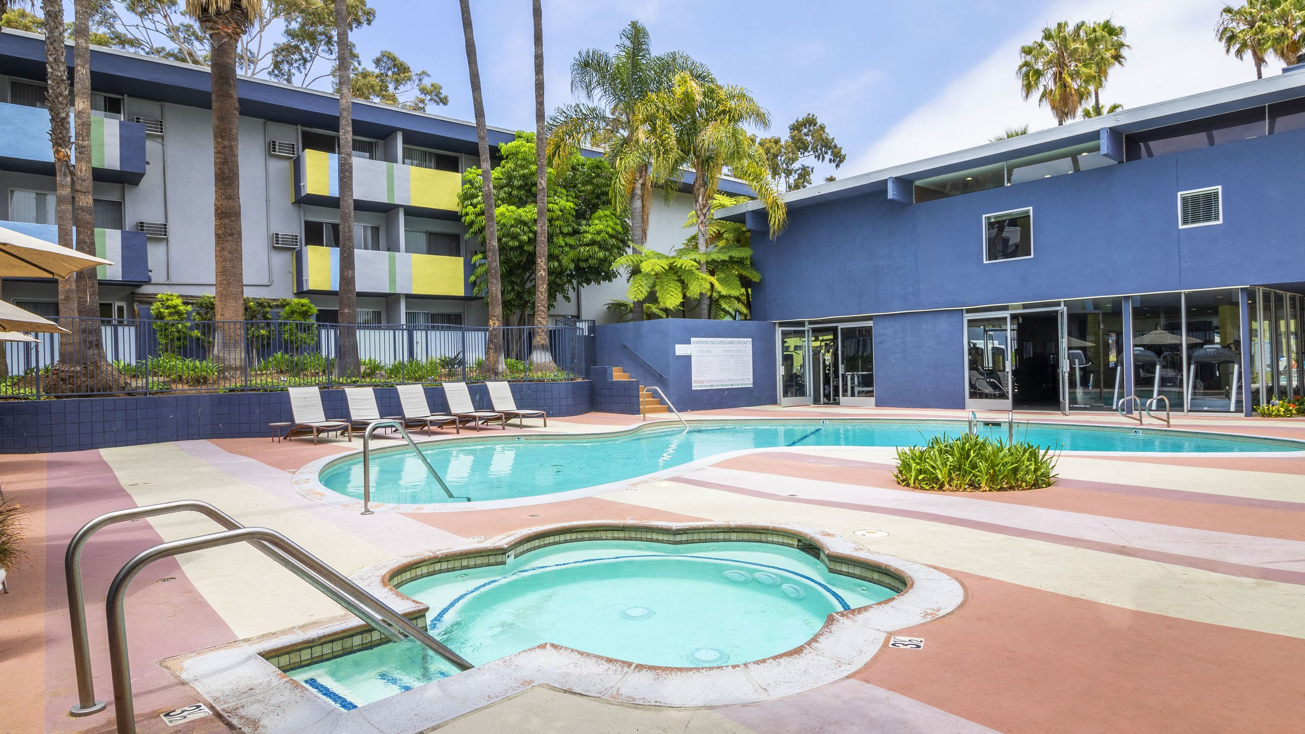 Sparkling Pool with Spa at Milano Apartments 20900 Anza Ave Torrance, CA 90503