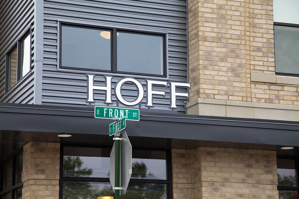 Hoff building sign