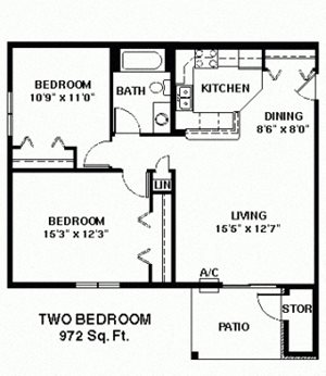 Two Bedroom Ranch large