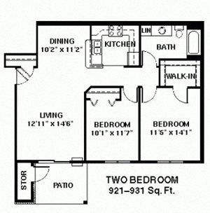Two Bedroom Ranch small