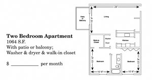2 Bedroom Ranch