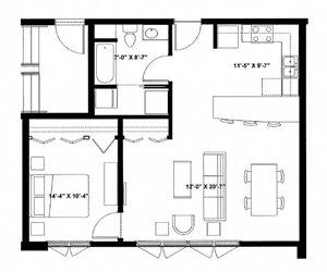 One Bedroom L