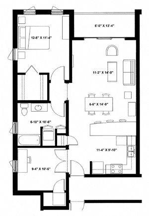 One Bedroom with Den H