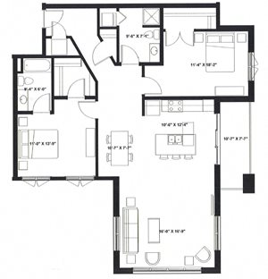 Two Bedroom Two Bath Q