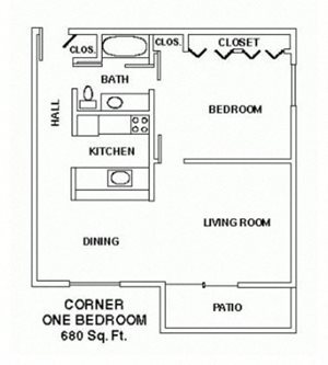 1 Bedroom Ranch