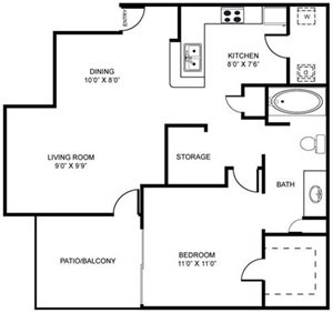 1A | One Bedroom