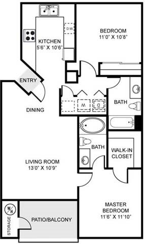2A | Two Bedroom