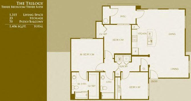 C1 | Three Bedroom