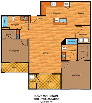 2D | Two Bedroom