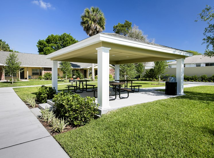 Richey Woods Senior Living Apartments for rent in New Port Richey, FL. Make this community your new home or visit other Concord Rents communities at ConcordRents.com. Picnic area
