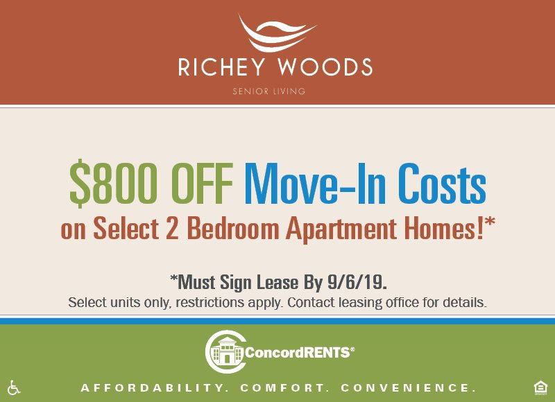 Photos and Video | Richey Woods | Concord Rents | Concord