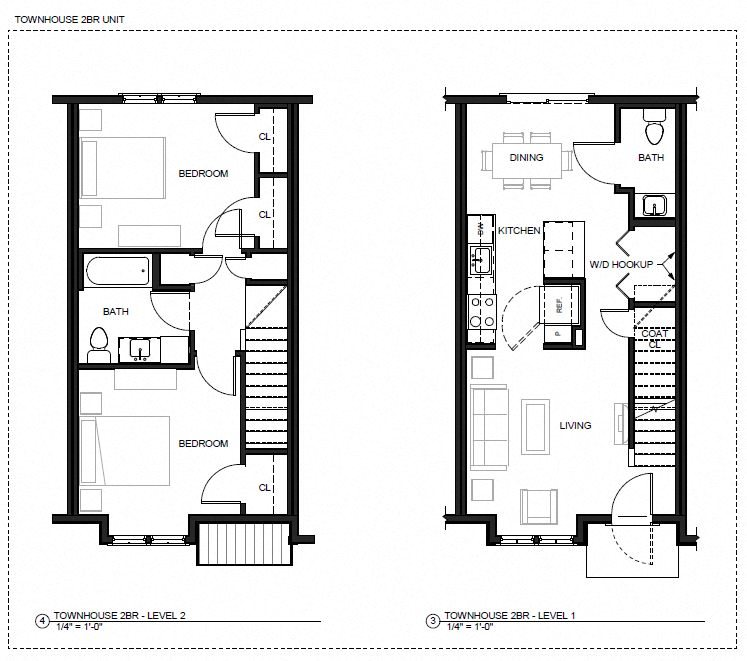Floor Plans of Canal Bluffs in Bourne, MA