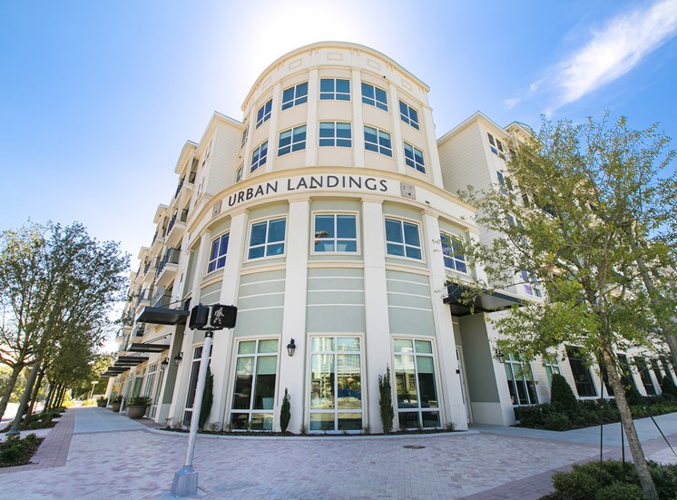Urban Landings Apartments for rent in St. Petersburg, FL. Make this community your new home or visit other ConcordRENTS communities at ConcordRENTS.com. Building exterior