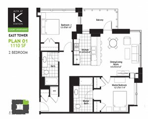 East Tower - 2 Bed - Plan 01 & 06