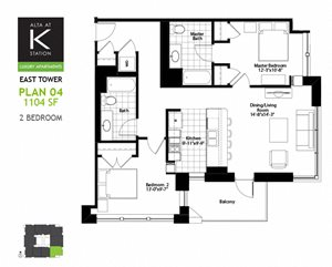 East Tower - 2 Bed - Plan 04