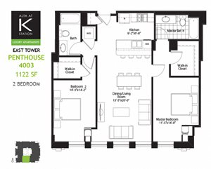 East Tower - 2 Bed - Penthouse Plan 03