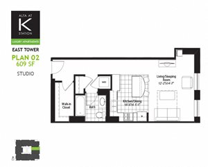 East Tower - Studio - Plan 02