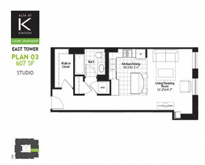 East Tower - Studio - Plan  03