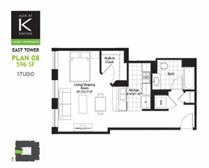 East Tower - Studio - Plan 08