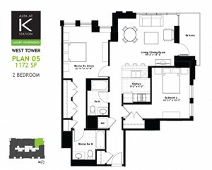 West Tower - 2 Bed - Plan 05