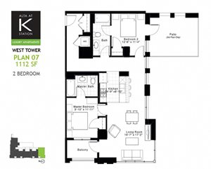 West Tower - 2 Bed - Plan 07