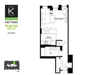 West Tower - Studio - Plan 04
