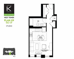 West Tower - Studio - Plan 09 & 10