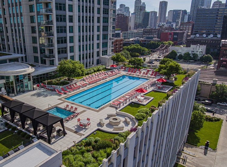 Alta at K Station features a rooftop terrace with several outdoor amenities