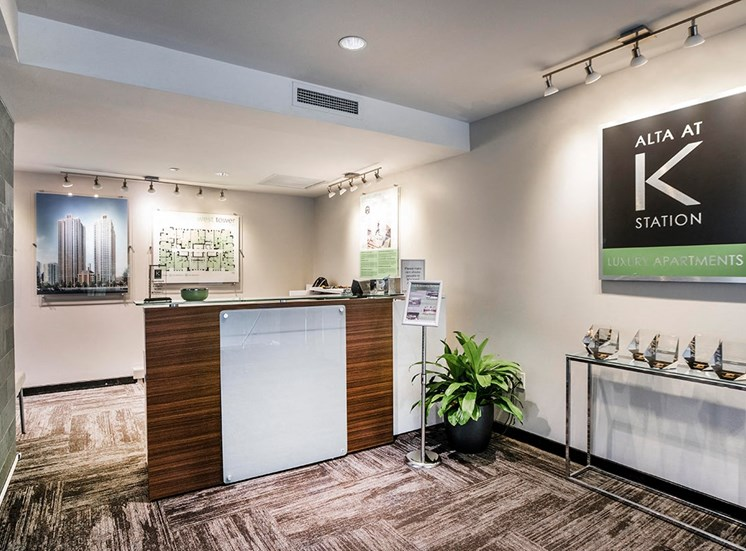 Leasing office at Alta at K Station in Chicago, IL