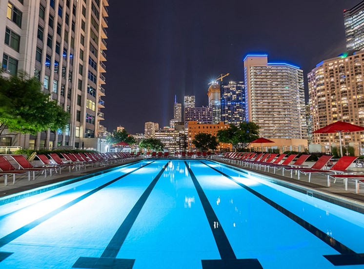 Take a dip in Alta's lighted rooftop pool