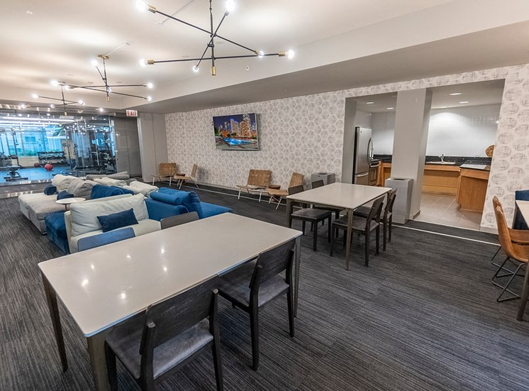 Alta's resident party room features comfortable seating for your guests